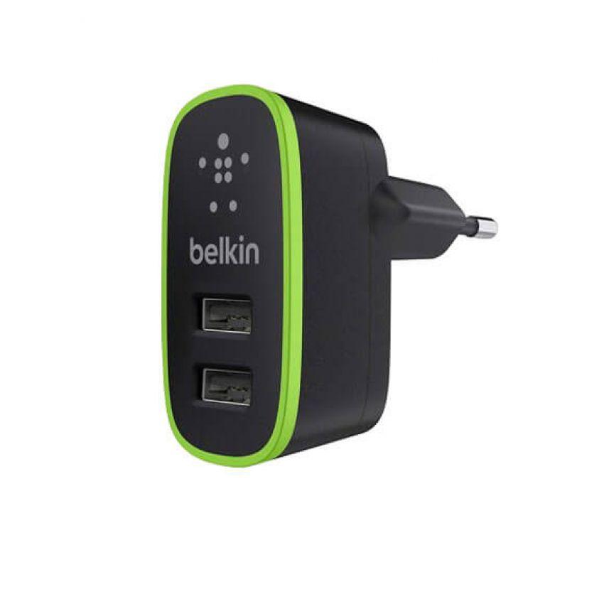 СЗУ Belkin USB 1A+2.1A F8J052 Black
