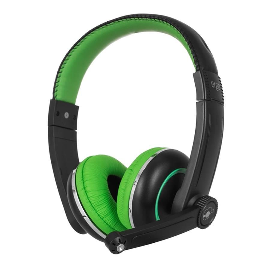 Наушники ERGO Ear VM-280 + mic Green