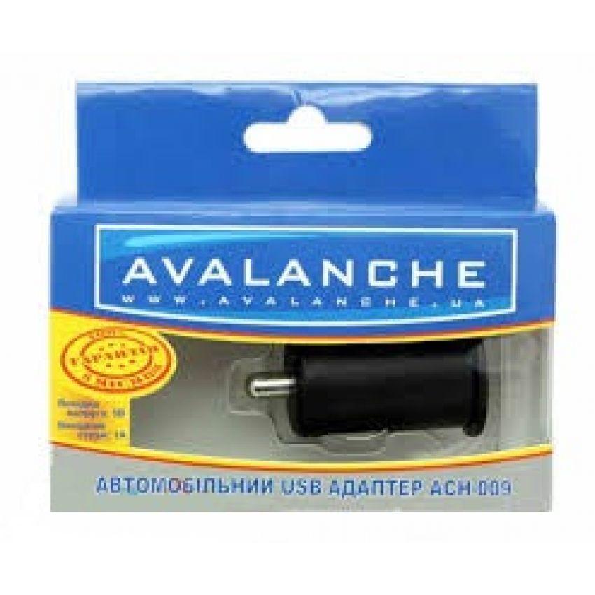 Avalanche Автомобильный USB адаптер 1А (ACH-009)
