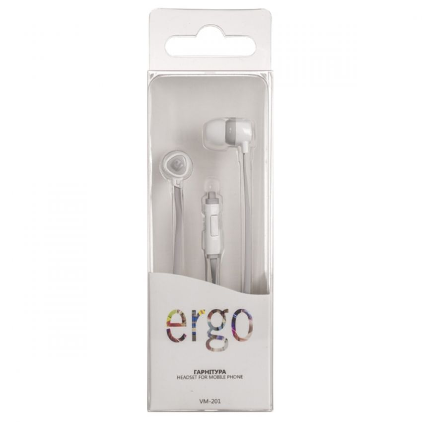 Наушники ERGO Ear VM-201 White