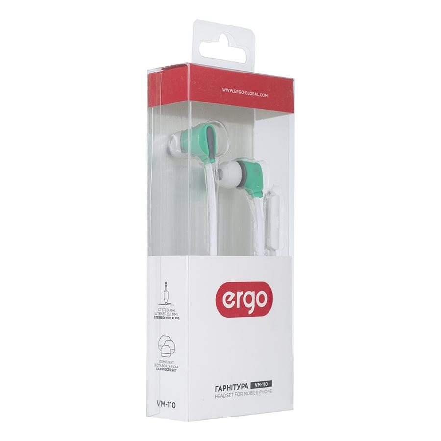 Наушники ERGO Ear VM-110 Green