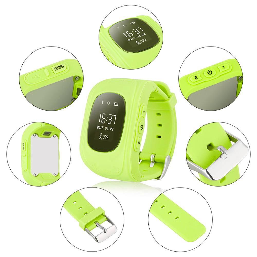 Детские умные часы Smart Baby Q50 (GW300) GPS Smart Tracking Watch Green