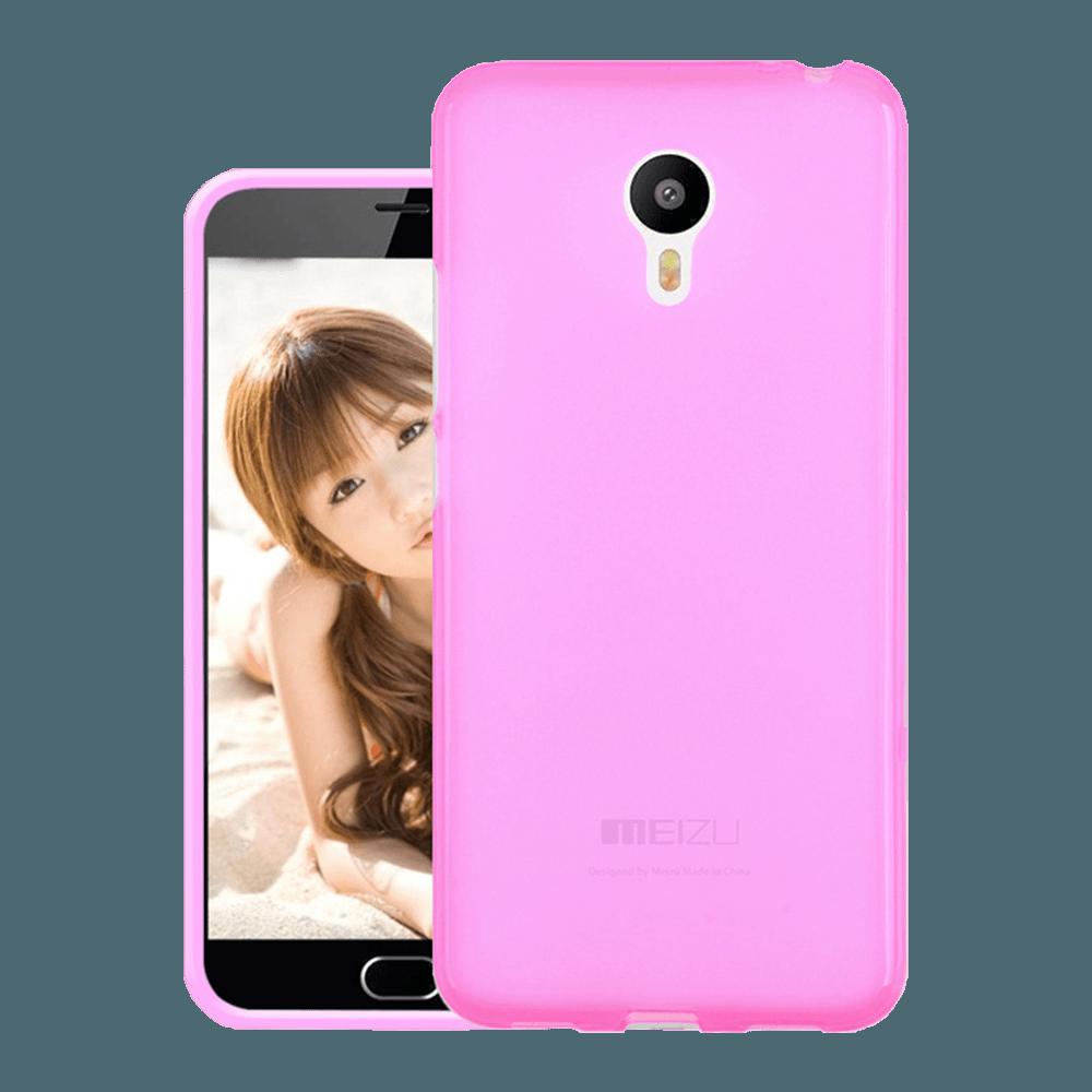 Original Silicon Case Meizu M5 Pink