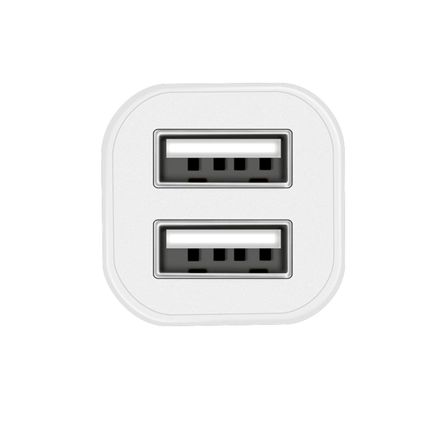 АЗУ Hoco Z12 Elite Dual USB 2.4A+2.4A White