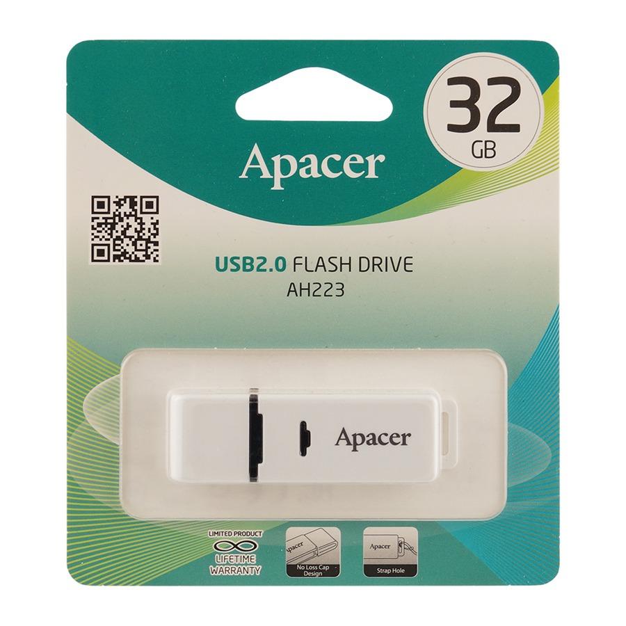 Флешка Apacer 32Gb AH223 White USB 2.0