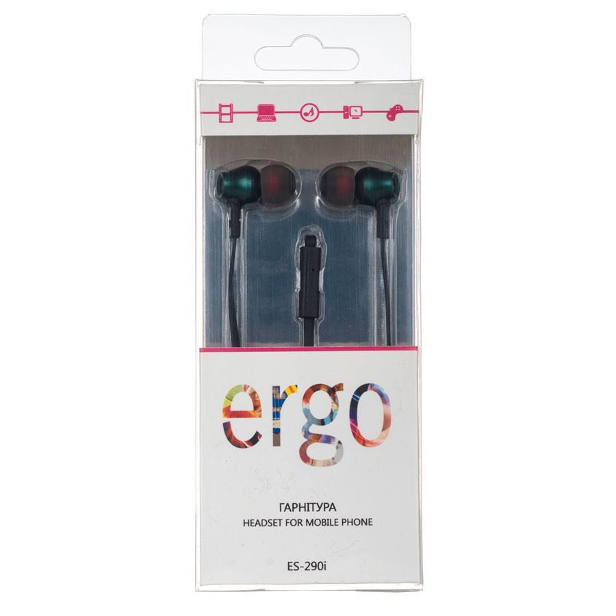 Наушники ERGO ES 290i Green