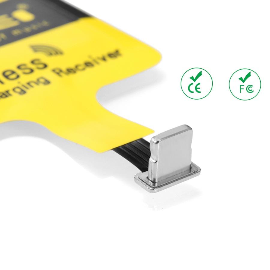 Ресивер для беспроводной зарядки Awei I6 Wireless для iPhone Yellow