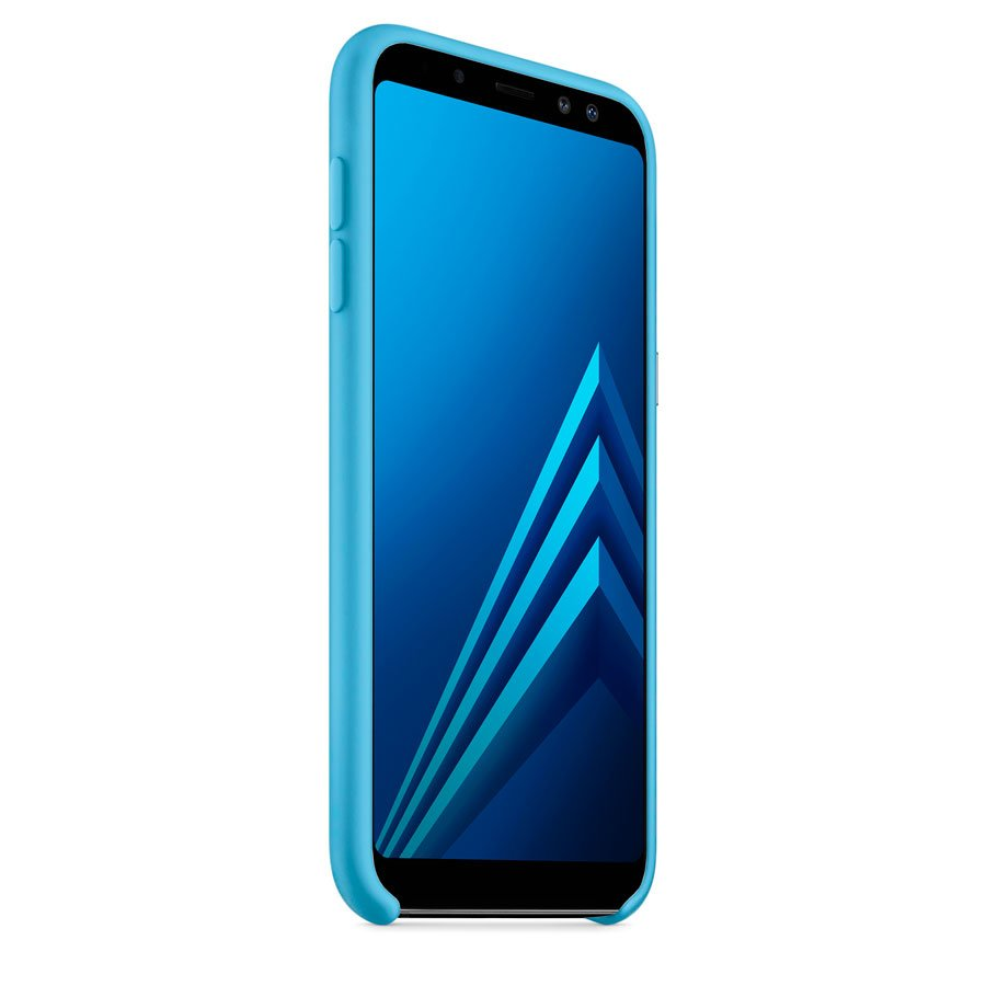 Чехол Original Soft Touch Case for Samsung A8 Plus-2018/A730 Blue