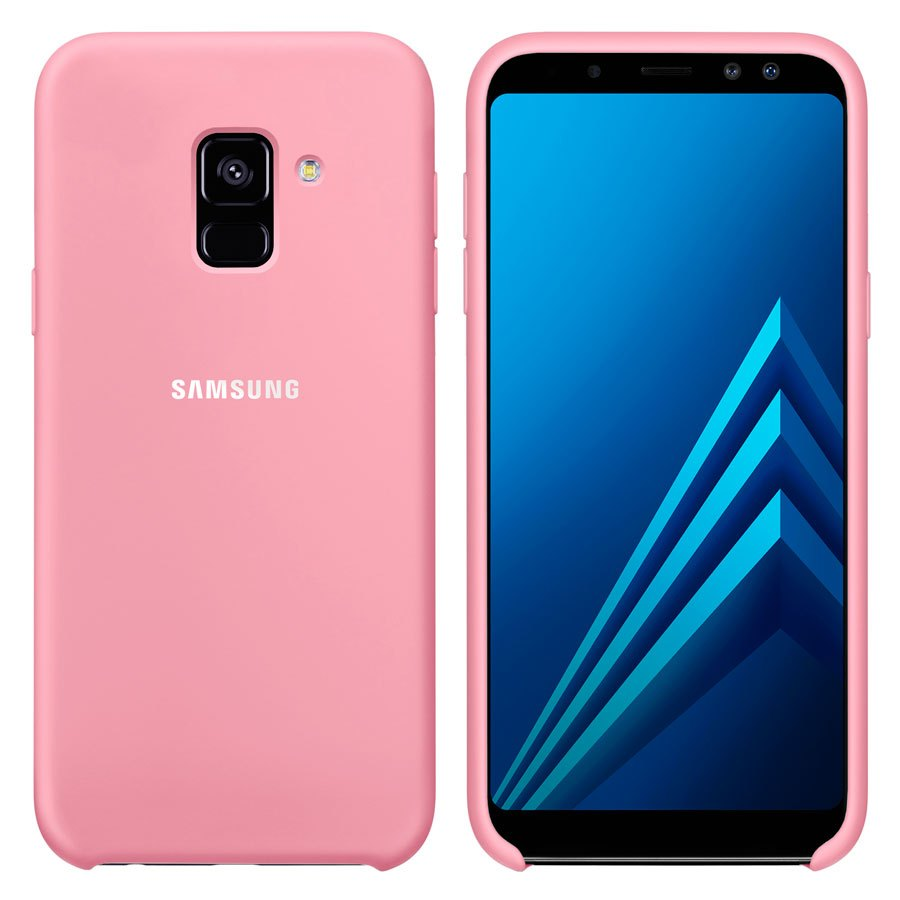 Чехол Original Soft Touch Case for Samsung A8 Plus-2018/A730 Light Pink