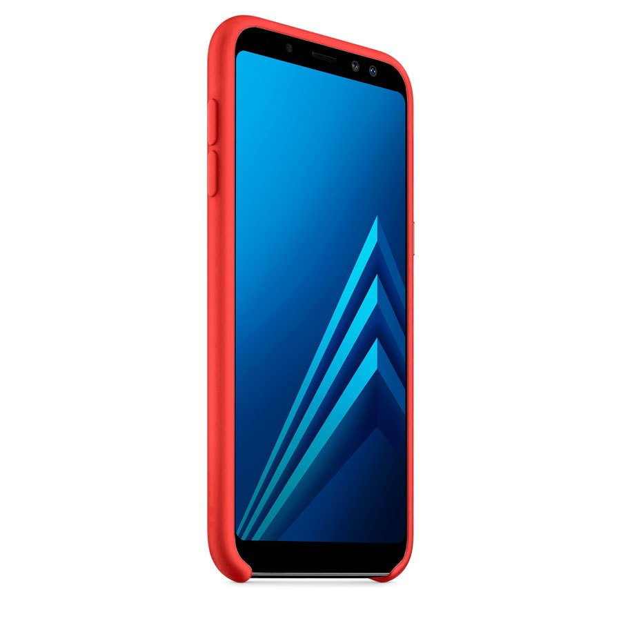 Чехол Original Soft Touch Case for Samsung A8-2018/A530 Red