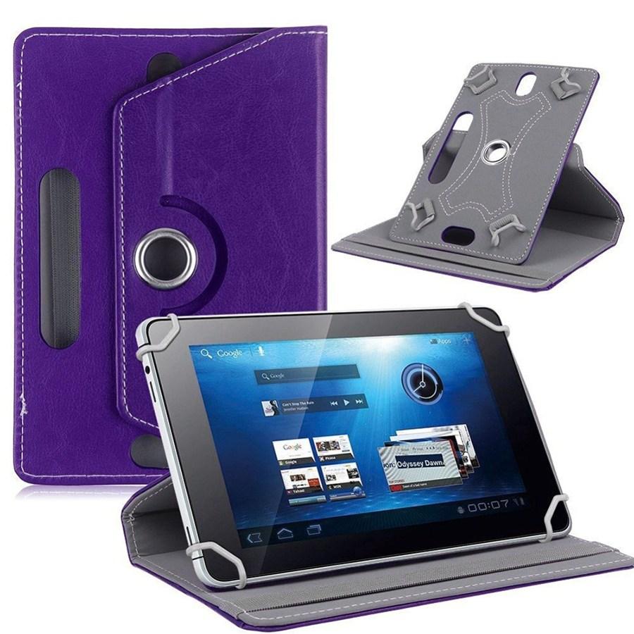 Сумка книжка универсальная для планшетов поворотная 7 дюймов Violet