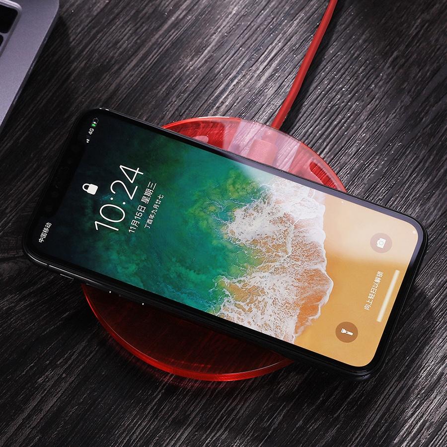 Беспроводное зарядное устройство Joyroom JR-A9 Qi 5W Glass Red