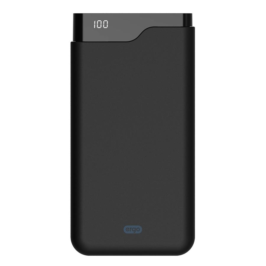 Внешний аккумулятор Ergo LI-U6 Type-C (12000mAh) Rubber Black