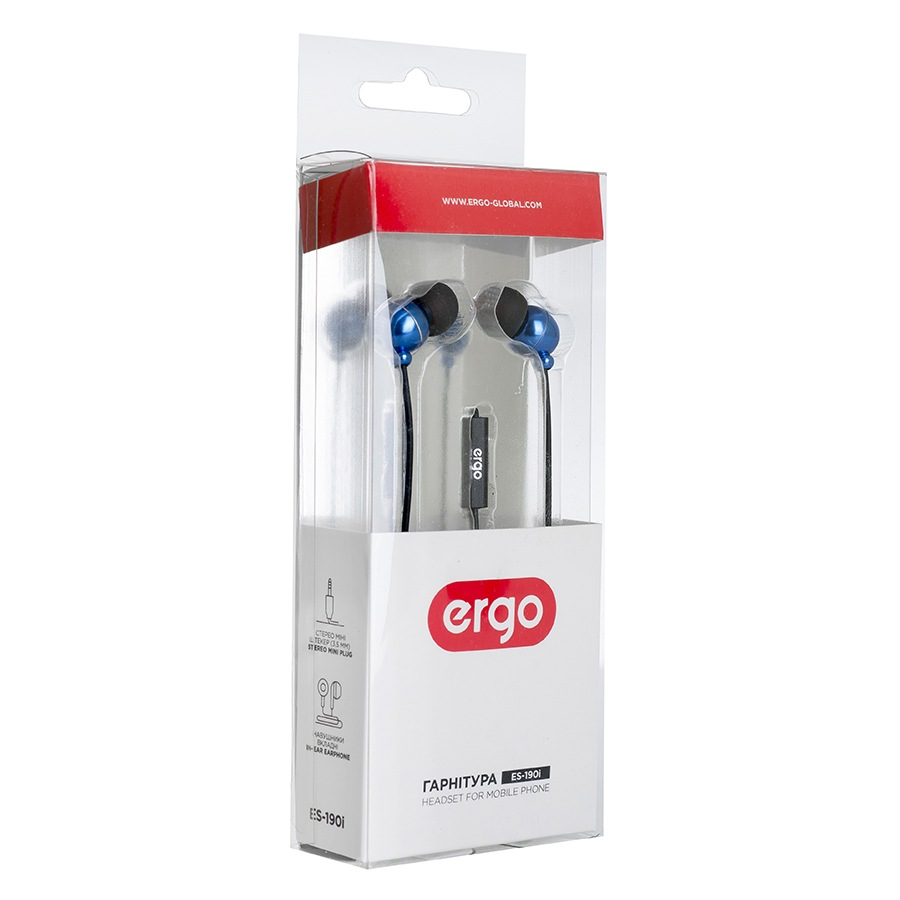 Наушники ERGO ES 190i Blue