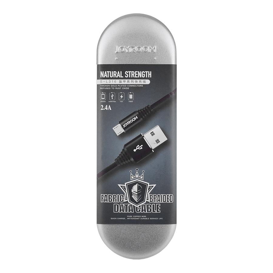 Кабель Joyroom Armour S-L316 Micro USB 1m Black
