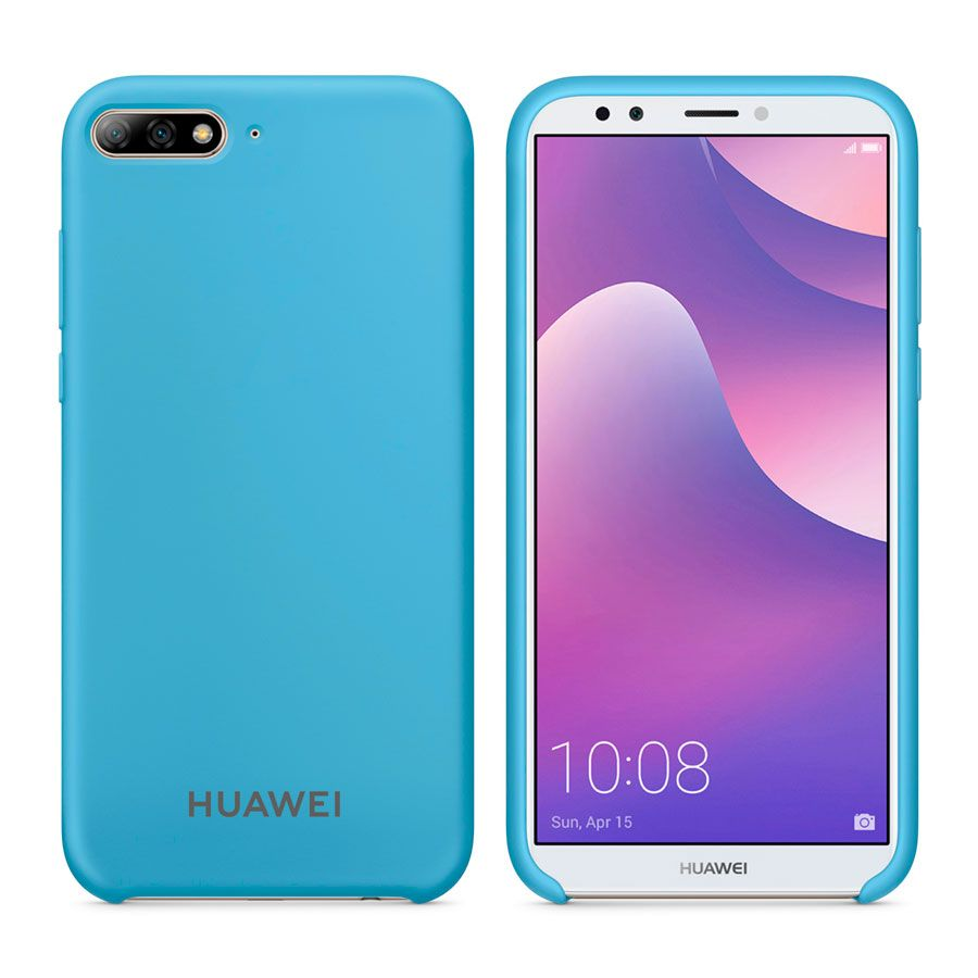 Чехол Original Soft Touch Case for Huawei Y7 Prime 2018 Blue