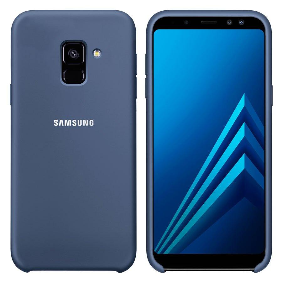 Чехол Original Soft Touch Case for Samsung A6 Plus 2018/A605 Dark Blue