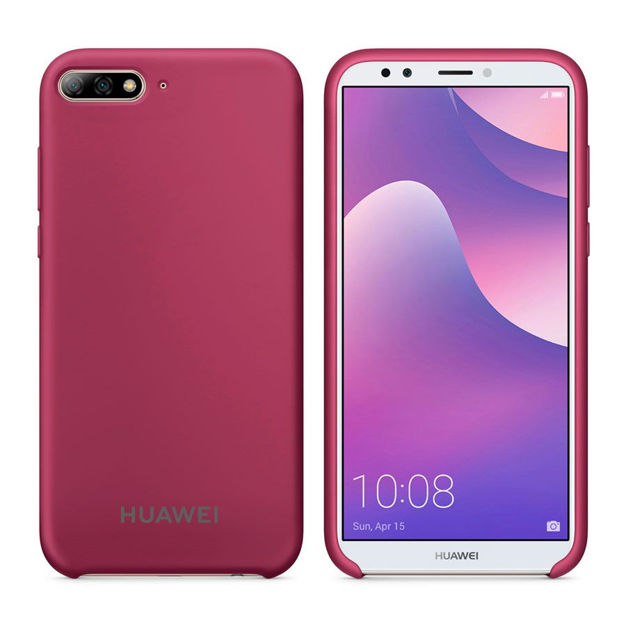 Чехол Original Soft Touch Case for Huawei Y6 Prime 2018 Bordo
