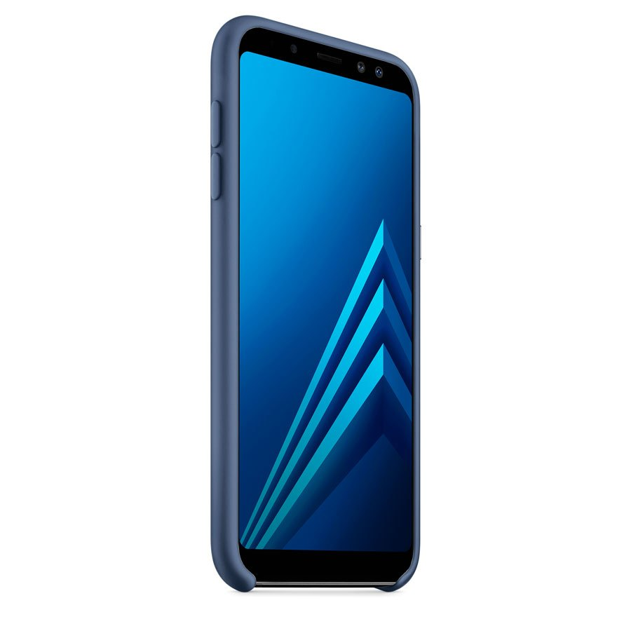 Чехол Original Soft Touch Case for Samsung A8 Plus-2018/A730 Dark Blue
