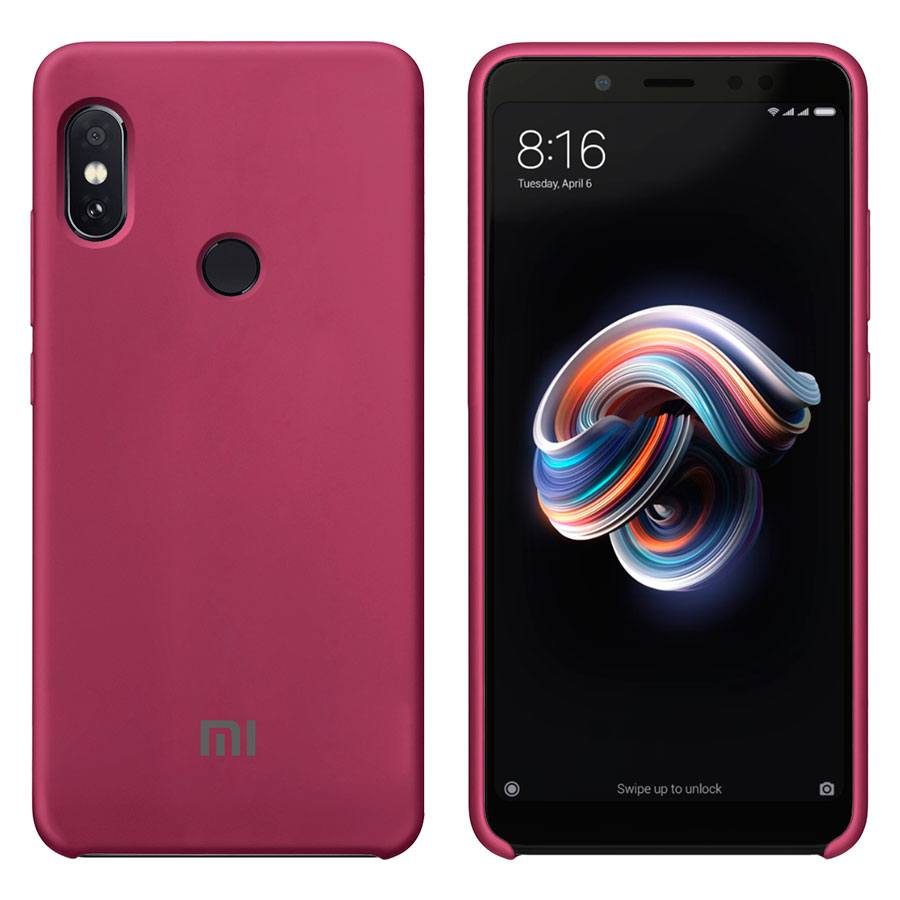 Чехол Original Soft Touch Case for Xiaomi Redmi 6a Bordo