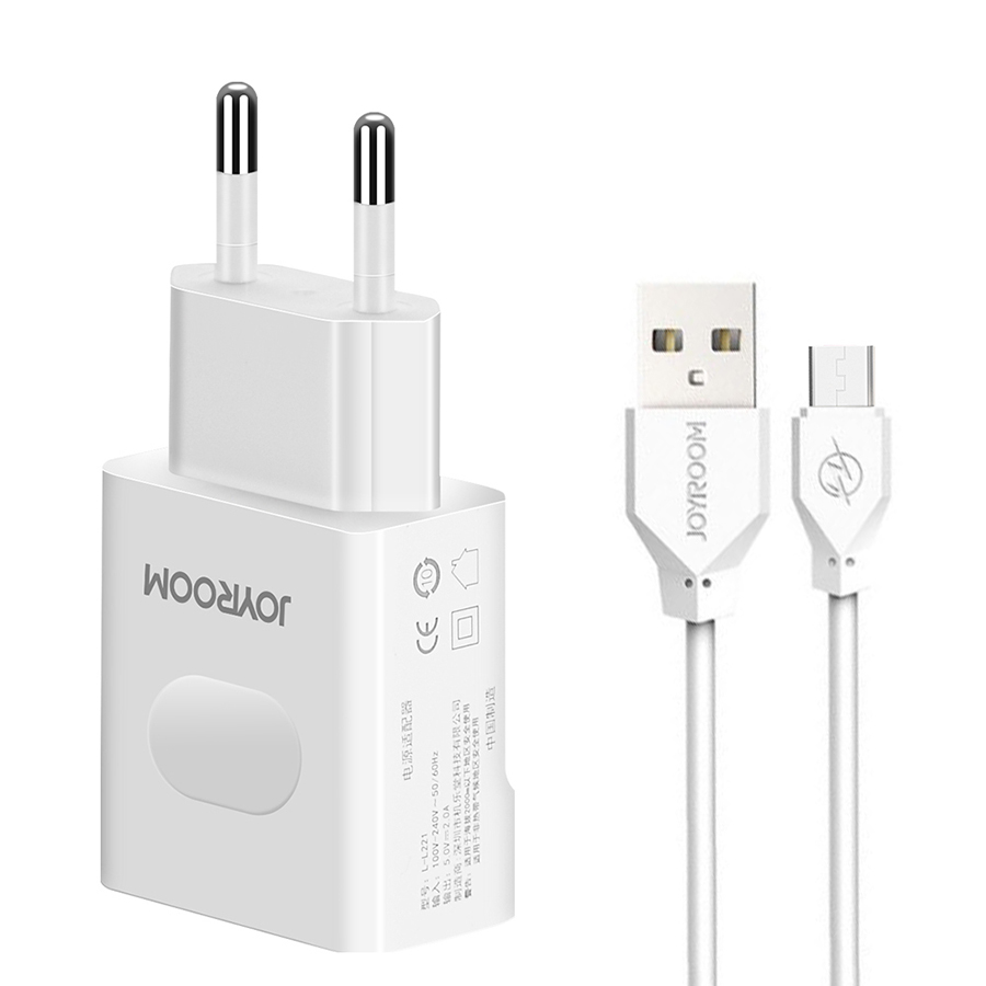 СЗУ Joyroom L-L221 2USB 2A + Micro USB cable White