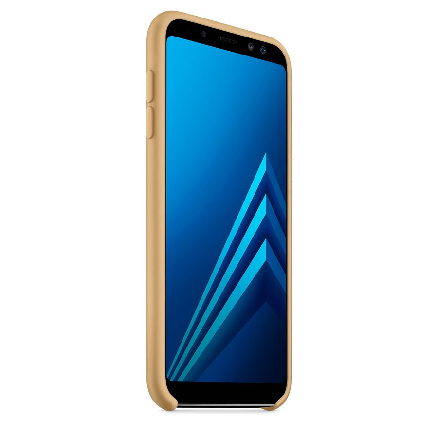 Чехол Original Soft Touch Case for Samsung A6-2018/A600 Gold