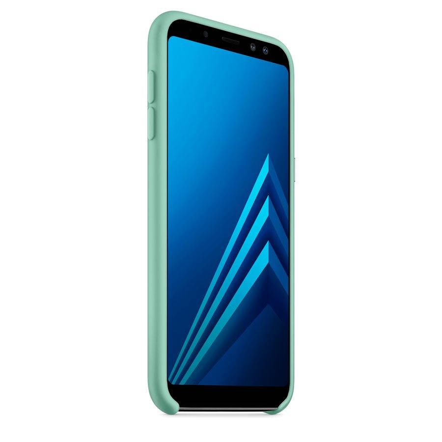 Чехол Original Soft Touch Case for Samsung A6-2018/A600 Light Blue