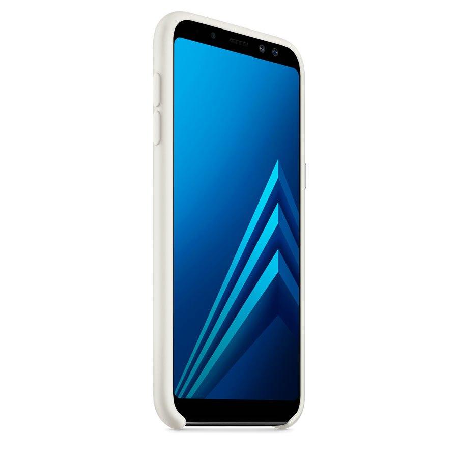 Чехол Original Soft Touch Case for Samsung A8-2018/A530 White