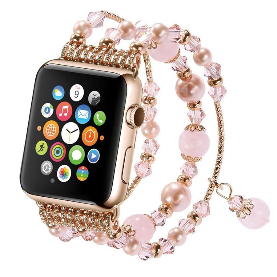 Ремешок для Apple Watch 38mm/40mm Crystal Jewelry Watch Band Gold