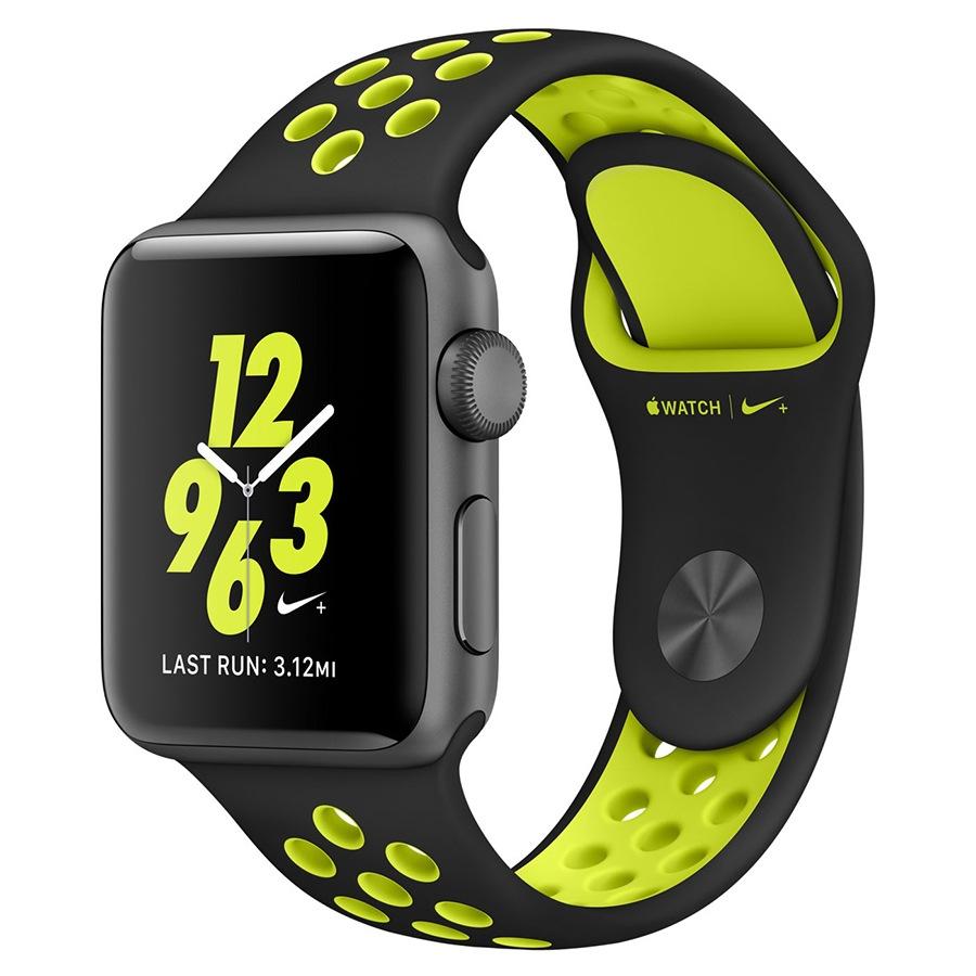 Ремешок для Apple Watch 38mm/40mm Nike Watch Band Black/Volt