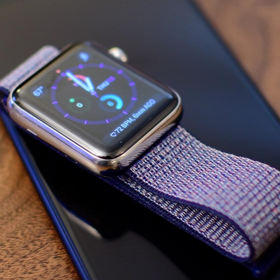 Ремешок для Apple Watch 38mm/40mm Nylon Sport Loop Midnight Blue