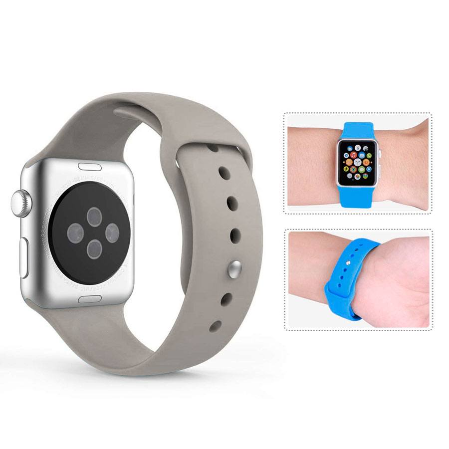 Ремешок для Apple Watch 38mm/40mm Silicone Watch Band Concrete