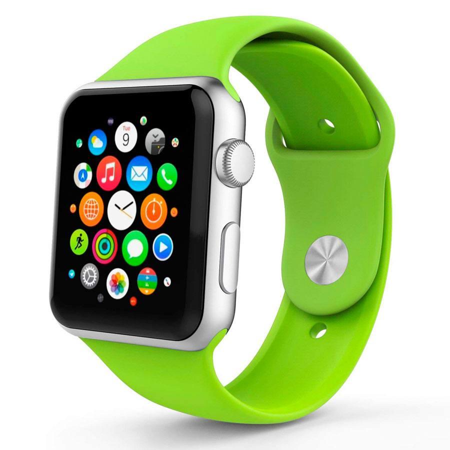 Ремешок для Apple Watch 38mm/40mm Silicone Watch Band Green