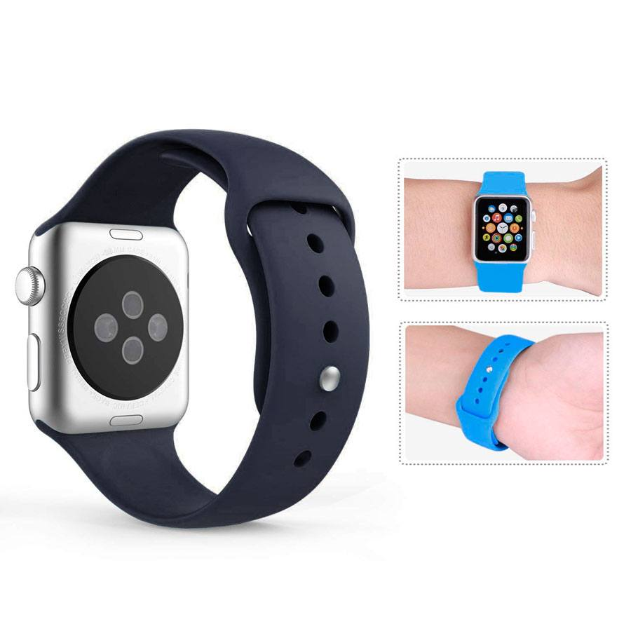 Ремешок для Apple Watch 38mm/40mm Silicone Watch Band Midnight Blue