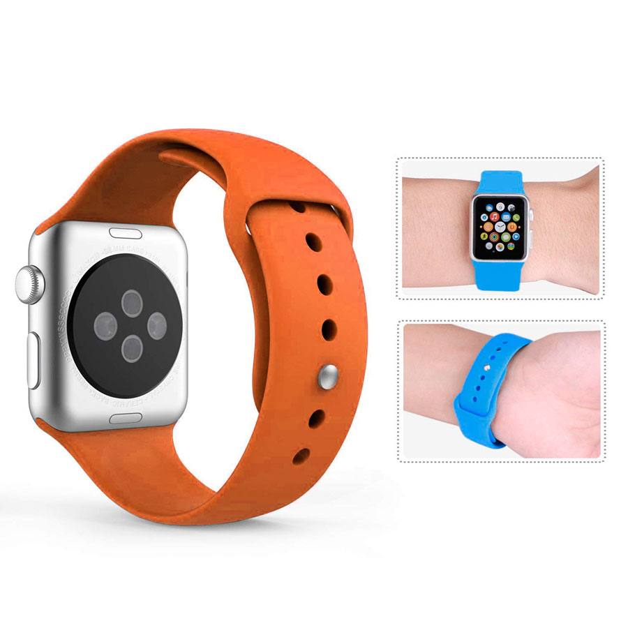 Ремешок для Apple Watch 38mm/40mm Silicone Watch Band Orange