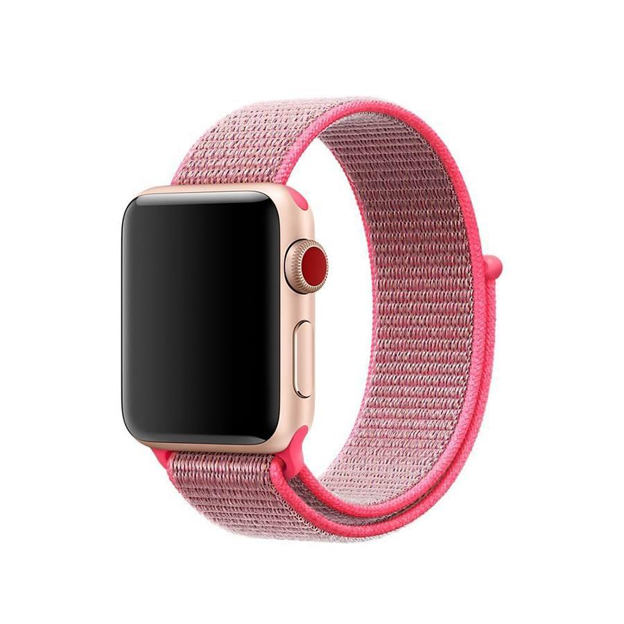 Ремешок для Apple Watch 42mm/44mm Nylon Sport Loop Electric Pink