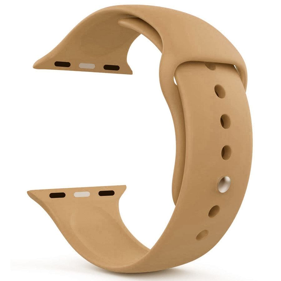 Ремешок для Apple Watch 42mm/44mm Silicone Watch Band Walnut