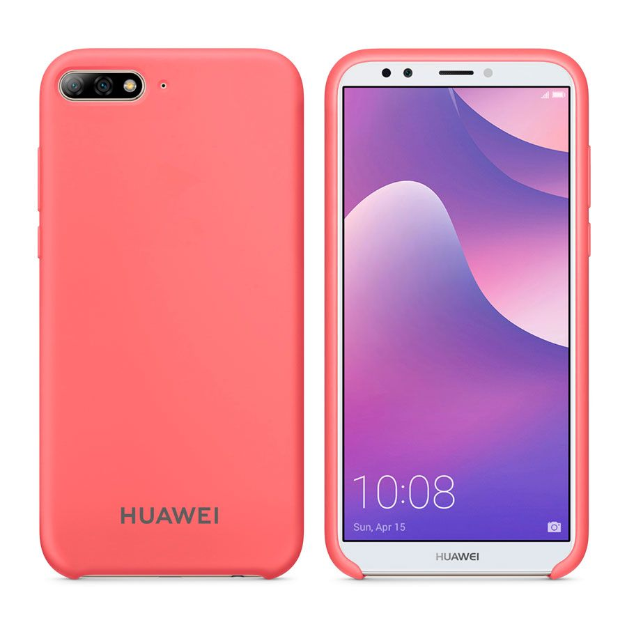 Чехол Original Soft Touch Case for Huawei Y5 2018/Honor 7a Bright Pink