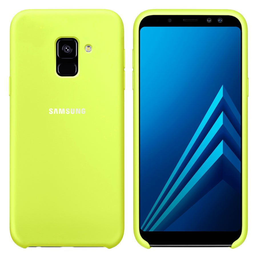 Чехол Original Soft Touch Case for Samsung A8 Plus-2018/A730 Lime