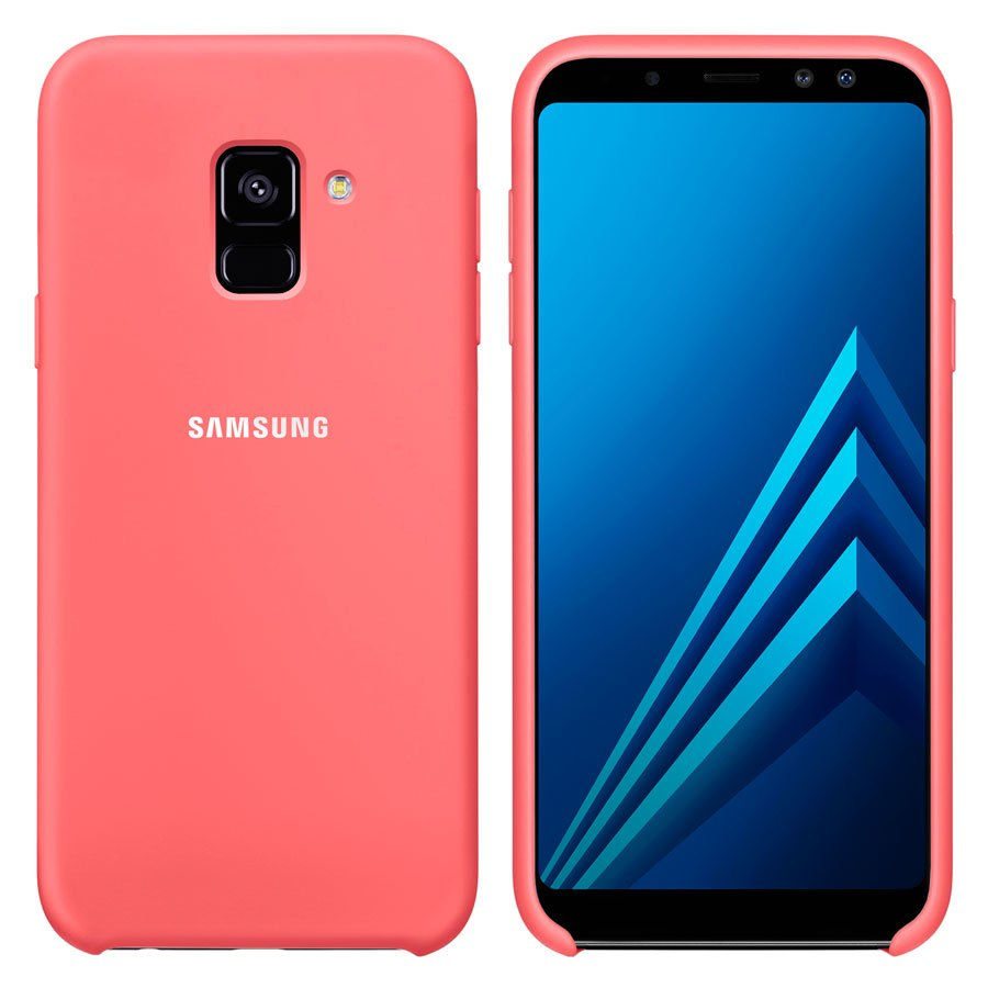 Чехол Original Soft Touch Case for Samsung A8-2018/A530 Bright Pink