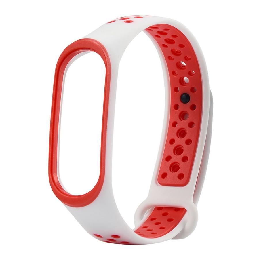 Ремешок для браслета Xiaomi Mi Band 3/4 Sport White/Red