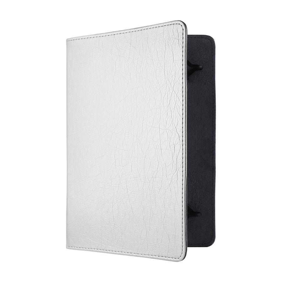 Сумка книжка универсальная для планшетов Lagoda 6-8 дюймов Silver Rainbow