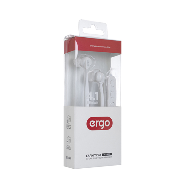 Bluetooth Наушники Ergo BT-801 White