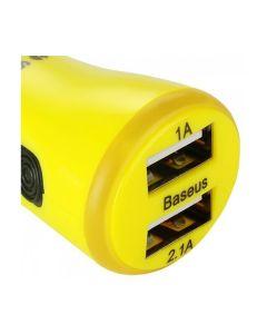 АЗУ Baseus Tiny 2USB 2.1A Yellow