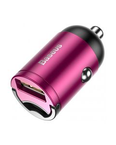 АЗУ Baseus Tiny Star Mini Quick Charge Car Charger USB Port 30W Pink