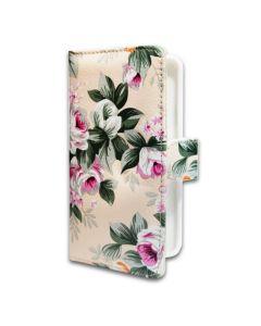 Чехол книжка Book Cover Universal 5.5 дюйма White Flowers