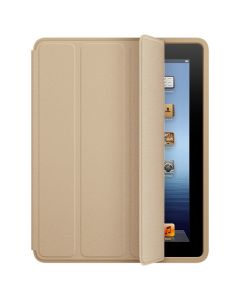 Leather Case Smart Cover for iPad Mini 4 Gold