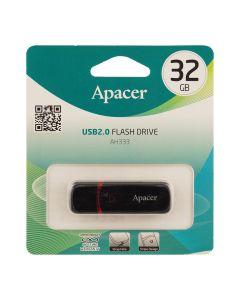 Флешка Apacer 32Gb AH333 Black USB 2.0