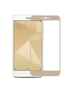 Защитное стекло для Xiaomi Redmi 4a 2D Gold