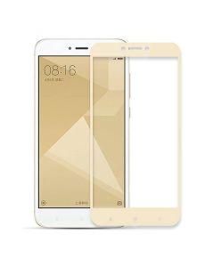 Защитное стекло для Xiaomi Redmi Note 4x 2D Gold